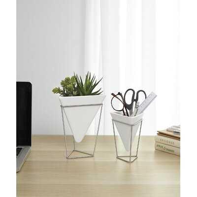 "2 Pieces Trigg 8"" Indoor / Outdoor Porcellain Table Vase Set - Wayfair"