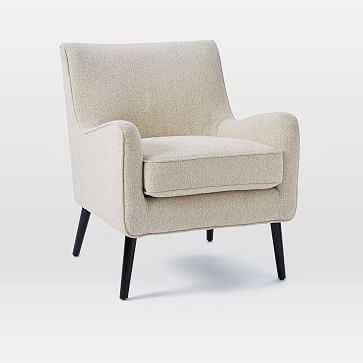 Book Nook Armchair, Boucle, Wheat, Individual - West Elm