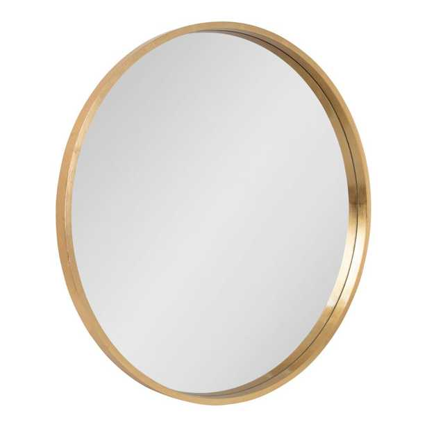 Kate and Laurel Round Gold Wall Mirror - Home Depot