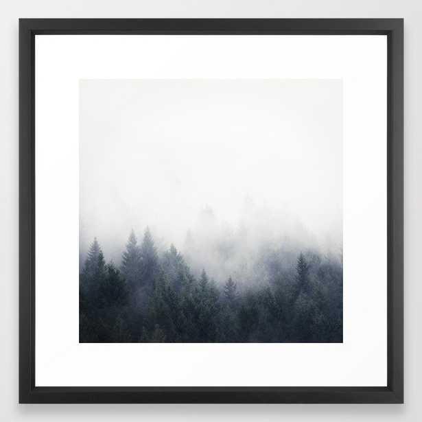 I Don't Give A Fog Framed Art Print by Tordis Kayma - Vector Black - MEDIUM (Gallery)-22x22 - Society6