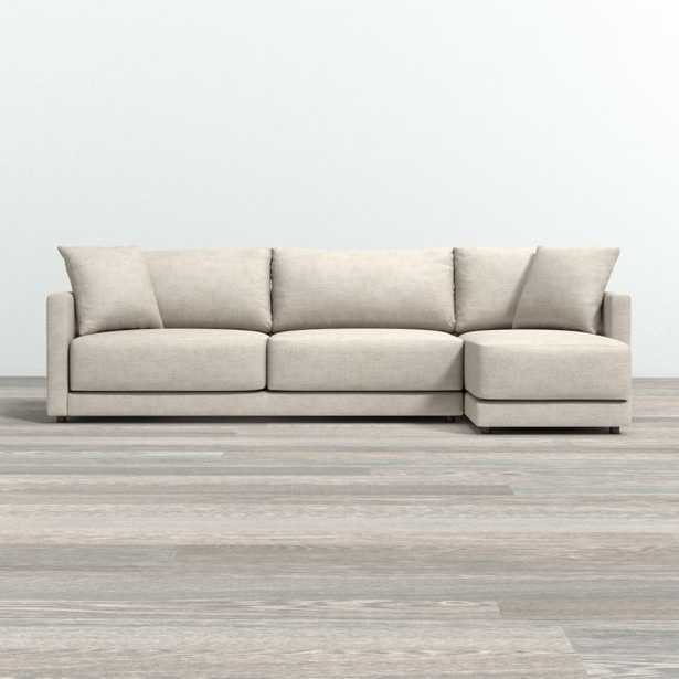 Gather Petite 2-Piece Sectional - Crate and Barrel