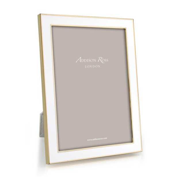 "Addison Ross Enamel Picture Frame Color: White/Gold, Picture Size: 8"" x 10"" - Perigold"