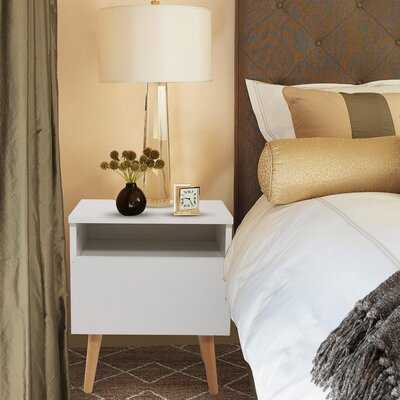 Pickard 1 - Drawer Solid Wood Nightstand in White - Wayfair