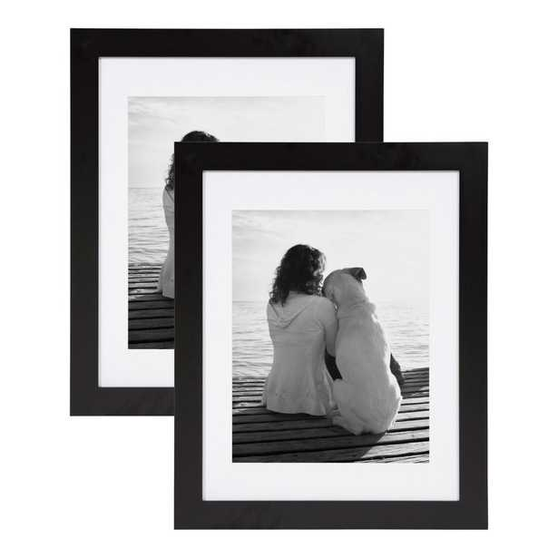 DesignOvation Museum 14x18 matted to 11x14 Black Picture Frame Set of 2 - Home Depot