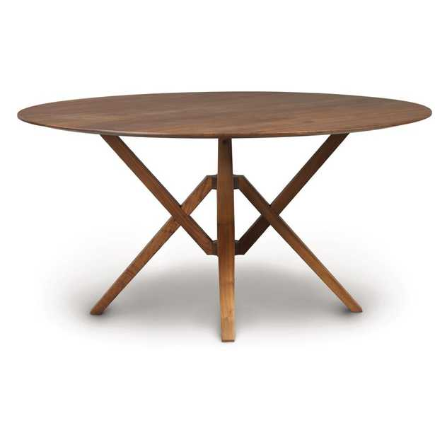 """Copeland Furniture Exeter Round Solid Wood Dining Table Size: 30"""" H x 60"""" L x 60"""" W, Color: Natural Walnut - Perigold"""