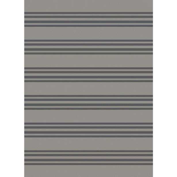 Plantation Patterns Maestro Neutral Ticking Stripe 8 ft. x 10 ft. Indoor/Outdoor Area Rug - Home Depot