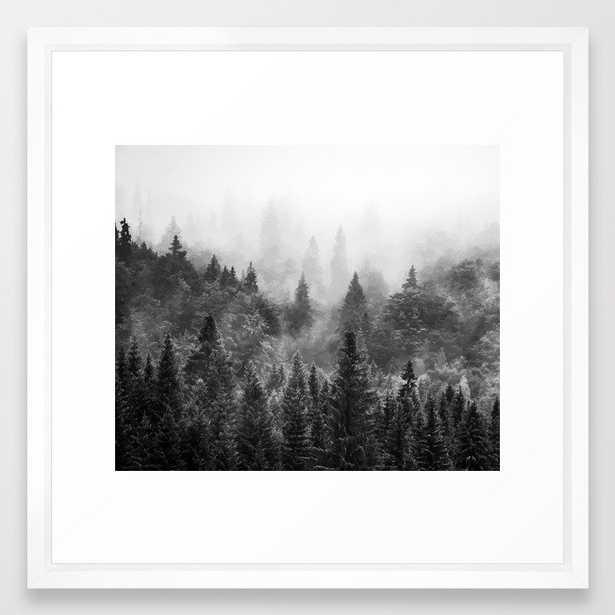 The Visionary Echo Bw #society6 Framed Art Print by 83 Orangesa(r) Art Shop - Vector White - MEDIUM (Gallery)-22x22 - Society6
