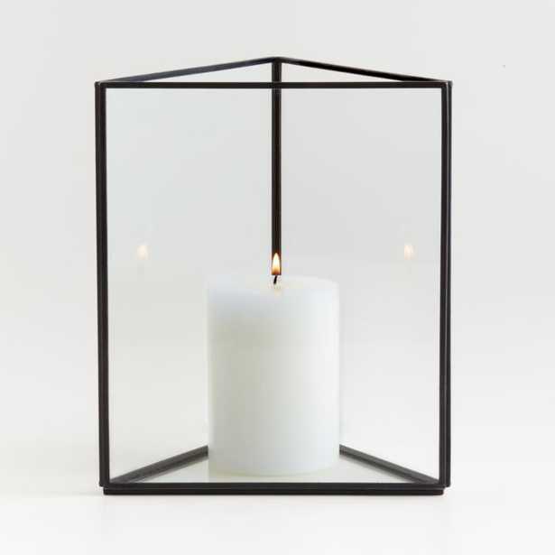 Ilum Triangular Glass Hurricane Candle Holder - Crate and Barrel