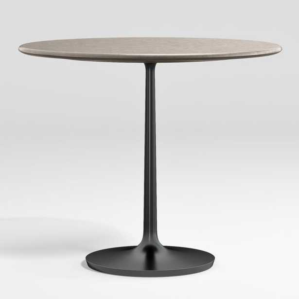 """Nero 36"""" Concrete Dining Table with Bronze Base - Crate and Barrel"""