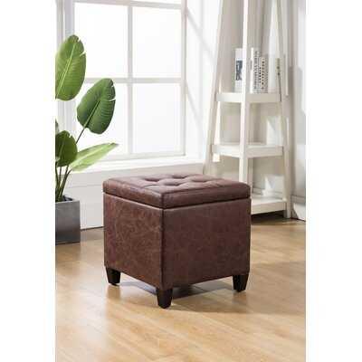 Viva Leather Tufted Storage Ottoman - Wayfair
