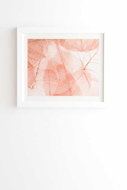 "Ingrid Beddoes sun bleached apricot White Framed Wall Art - 11"" x 13"" - Wander Print Co."