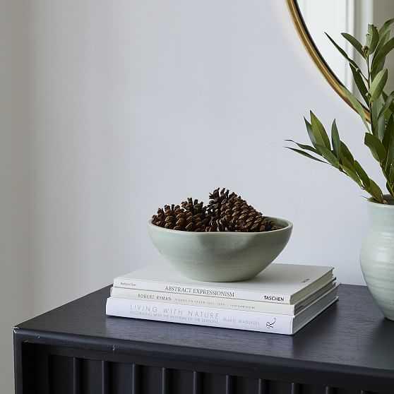Ceramic Bowl, Sage, Small - West Elm