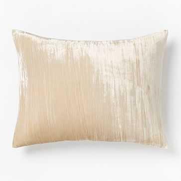 Lush Crinkle Velvet Duvet, Standard Sham, Sand - West Elm