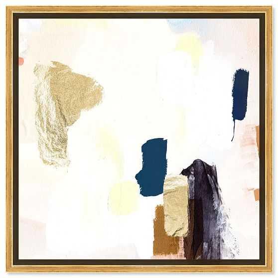 "'Azul' Abstract Wall Art, White, 40"" x 40"" - West Elm"