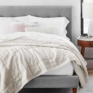 Belgian Linen Quilt, Full/Queen, Natural Flax - West Elm