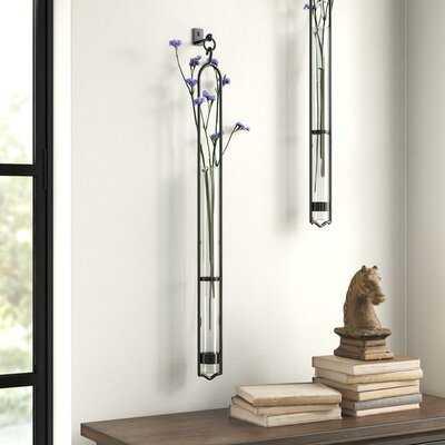 Callender Clear Glass Wall Vase - Wayfair