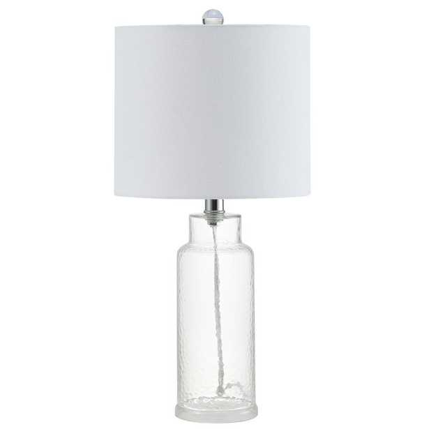 Safavieh Carmona 21 in. Clear Table Lamp - Home Depot