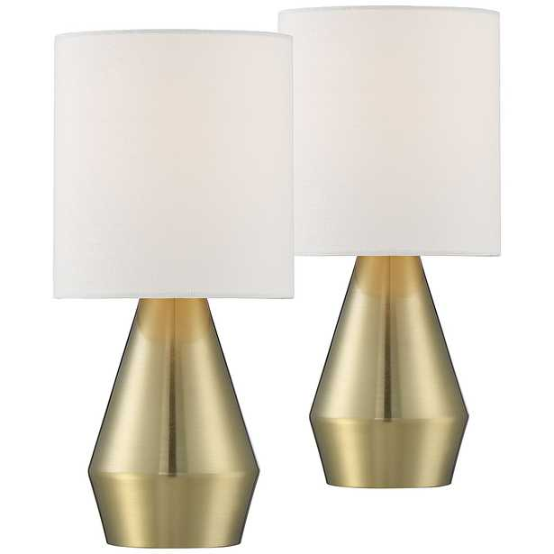 """Marty 14 3/4"""" High Brass Accent Table Lamps Set of 2 - Style # 76A91 - Lamps Plus"""