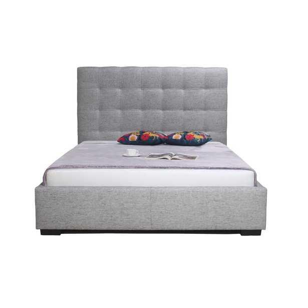 Moe's Home Collection Upholstered Storage Platform Bed Size: King, Color: Light Grey - Perigold