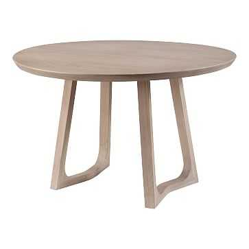 Solid White Oak Round Dining Table,Solid White Oak, - West Elm