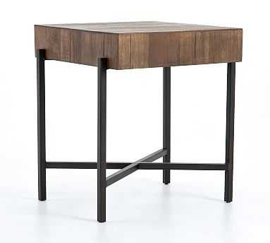 Fargo End Table, Natural Brown - Pottery Barn