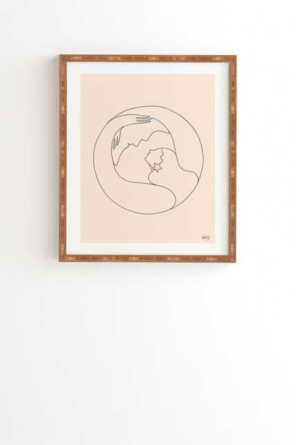 """Moon Lover by Maggie Stephenson - Framed Wall Art Bamboo 8"""" x 9.5"""" - Wander Print Co."""