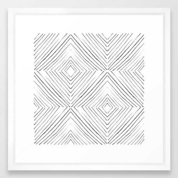 Black Lines Framed Art Print by Georgiana Paraschiv - Vector White - MEDIUM (Gallery)-22x22 - Society6