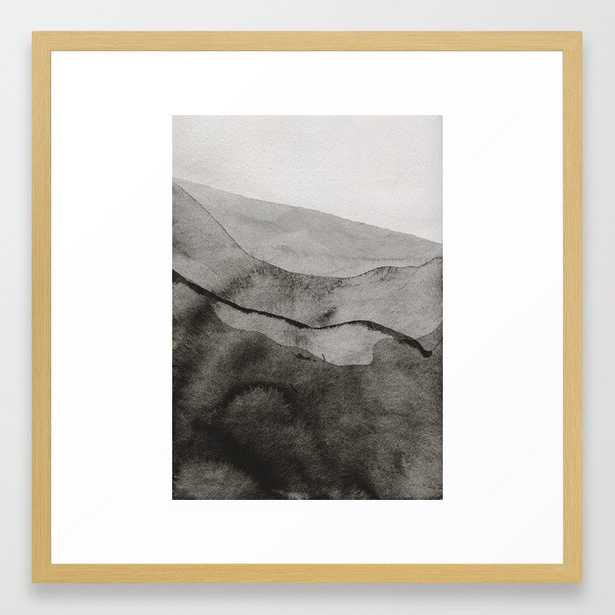Ink Layers Framed Art Print by Georgiana Paraschiv - Conservation Natural - MEDIUM (Gallery)-22x22 - Society6