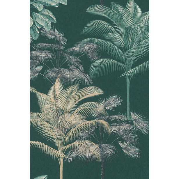 Walls Republic Green Tropical Decoration Wallpaper / Dry Strippable Wallpaper (Double Roll) - Home Depot