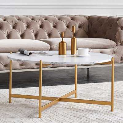Filicia Cross Legs Coffee Table - Wayfair