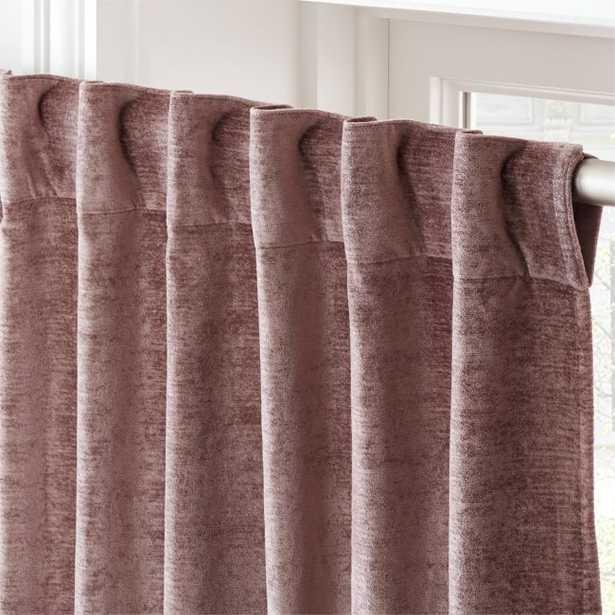 "Cotton Viscose Dusty Blush Curtain Panel 48""x96"" - CB2"