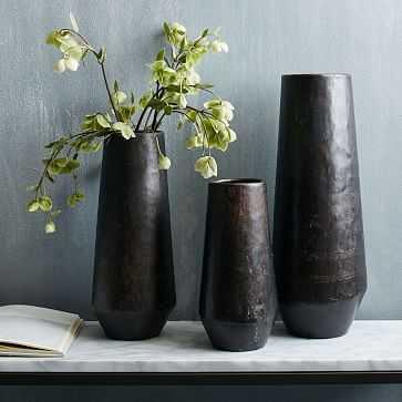 Recycled Metal Vase, Set of 3 - West Elm