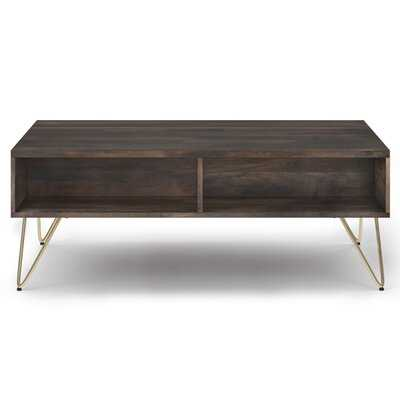 Claudia Solid Wood Coffee Table with Storage - Wayfair