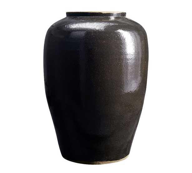 Burke Ceramic Vase - Black - Pottery Barn