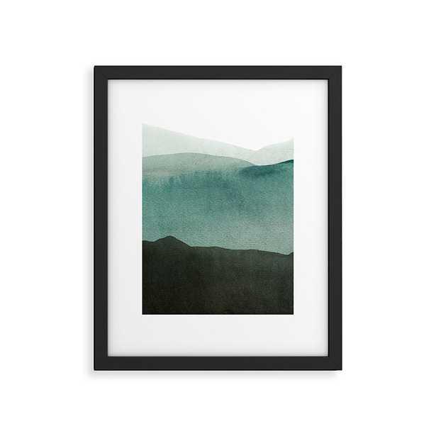 "Valleys Deep Mountains High by Iris Lehnhardt - Modern Framed Art Print Black 16"" x 20"" - Studio Marcette"