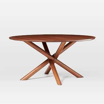 "Jax 60"" Round Dining Table, Walnut - West Elm"