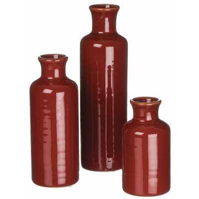 Remzi Bottle 3 Piece Table Vase Set - Wayfair