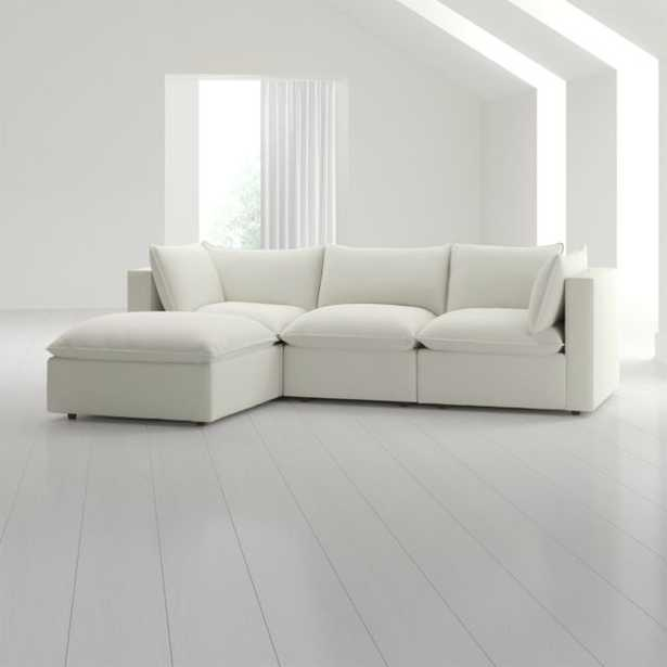 Lotus 4-Piece Low Sectional (Est. December) - Crate and Barrel