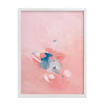 "Soft Coral, White Wood Frame, 18""x24"" - West Elm"