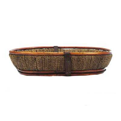 Honey Willow/Wood Oval Basket - Wayfair