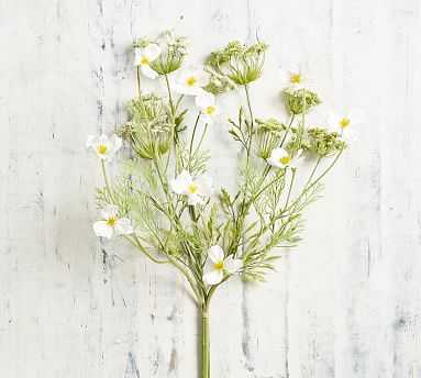 Faux Queen Anne's Lace And Cosmos Bouquet, Green - Pottery Barn