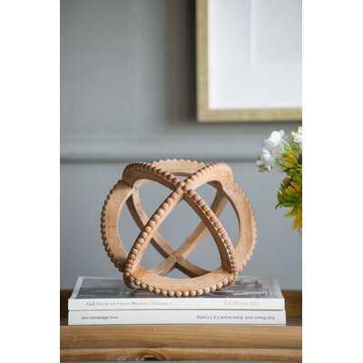 Montesano Decorative Ball Table Accent with Bead Trim - Wayfair