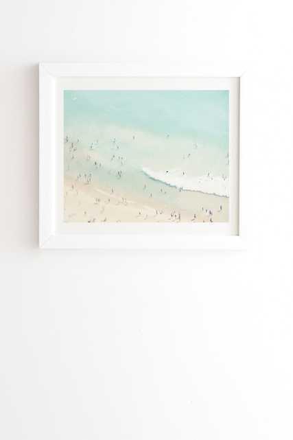 "Beach Summer Love Ll by Ingrid Beddoes - Framed Wall Art Basic White 20"" x 20"" - Wander Print Co."