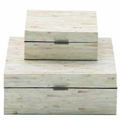 Leeja 2 Piece Mother of Pearl Inlay Decorative Box Set - Birch Lane