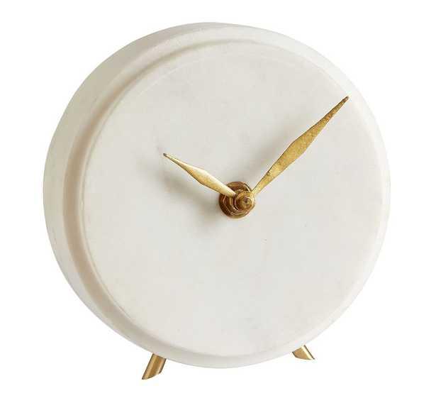 Madaline Marble Clock - Pottery Barn