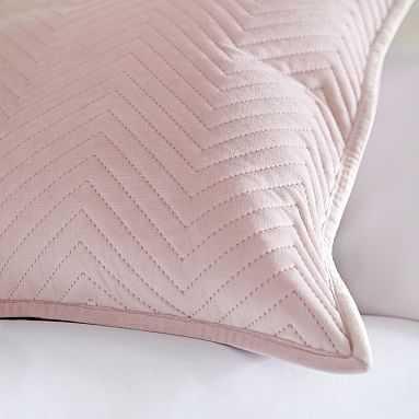 Luxe Velvet Pillow Cover, 18x18, Powdered Blush - Pottery Barn Teen