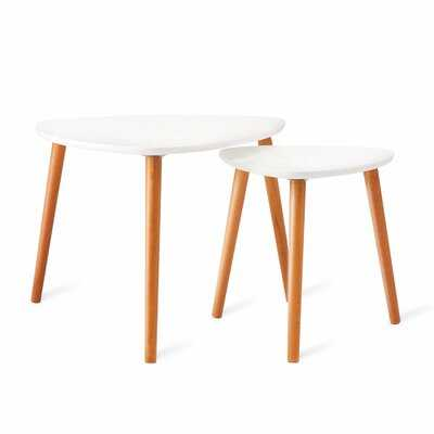 Nesting Coffee Tables Set Of 2 in , White - Wayfair