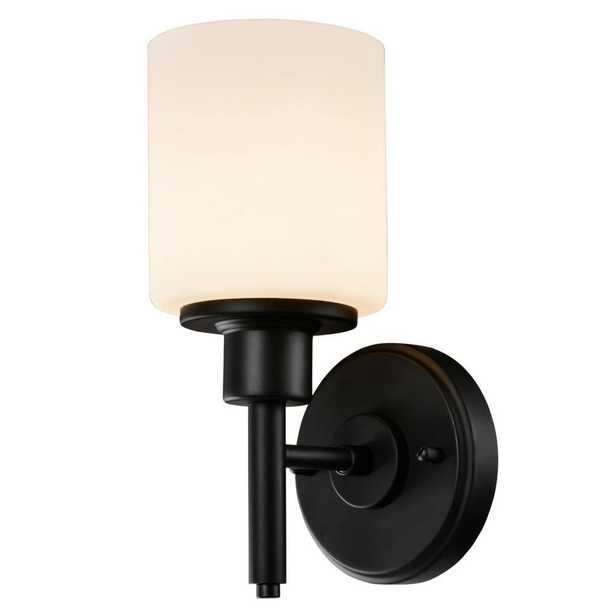 Design House Aubrey 1-Light Matte Black Indoor Wall Sconce - Home Depot