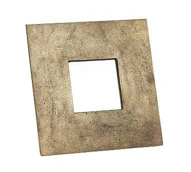 """Rena Brass Picture Frame, 5"""" x 5"""" (11"""" x 13"""" overall) - Pottery Barn"""