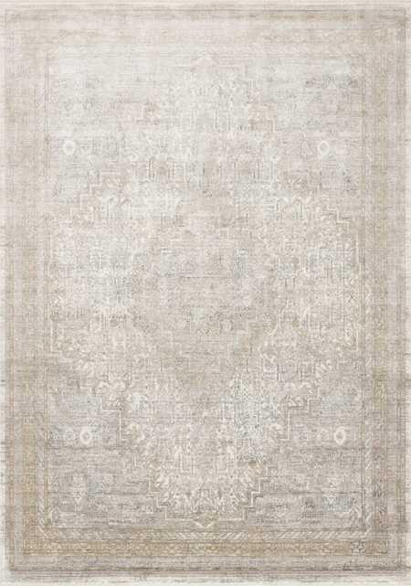 "Loloi Gemma GEM-01 Sand / Ivory 9'-6"" x 12'-6"" - Loma Threads"